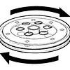 Draaischijf diameter 14 cm transparant