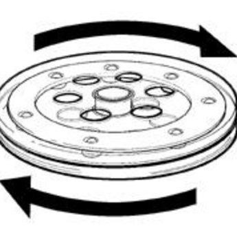 Draaischijf diameter 14 cm transparant, met name om displays draaibaar te maken.