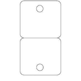 Byoux-kaartje type 16 - bxh  60x110 mm, prijs is per 100 stuks. Kleur mat transparant dikte 0.3mm