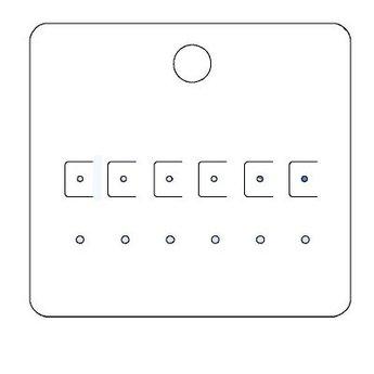 Byoux-kaartje type 20 - bxh  85x78  mm, prijs is per 100 stuks. Kleur mat transparant dikte 0.3mm