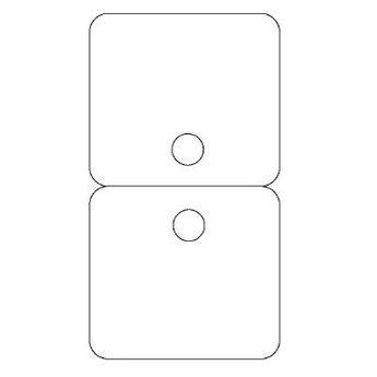 Byoux-kaartje type 22 - bxh  60x110 mm, prijs is per 100 stuks. Kleur mat transparant dikte 0.3mm