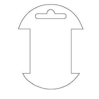 Byoux-kaartje type 60 - bxh  65x85  mm, prijs is per 100 stuks. Kleur mat transparant dikte 0.3mm