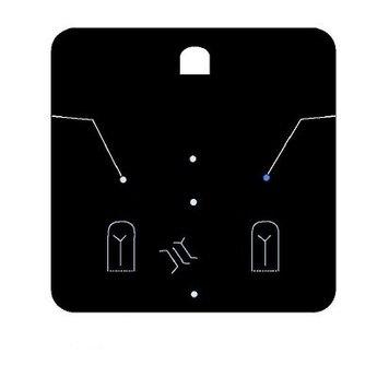 Byoux-kaartje type 91 - bxh  75x75  mm, prijs is per 100 stuks. Kleur mat transparant dikte 0.3mm
