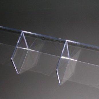 Inzet voor folderbak A4 liggend - indeling met 3vakken voor 1/3A4 extra diep 65mm (3x1)
