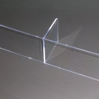 Inzet voor folderbak A4 liggend - indeling met 2vakken voor A5  extra diep (2x1).