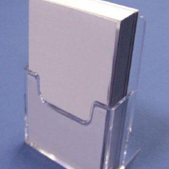 Folderbak voor visitekaartjes staand (op de maat ...x... mm)