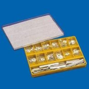 Bock Prijskassette Brillant 1409 Gold. Tekenhoogte 9mm in goudkleur uitgevoerd. Doos bestaat uit 315 tekens.