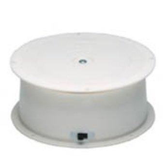Draaiplateau  maximaal draagvermogen 4 kg op battterijen, diameter 150mm hoogte 65mm, draaisnelheid 2,5 omwentelingen per minuut. Kunststof uitvoering, met aan/uit schakelaar op de zijkant. Werkt op 1 en of op 2 stuks D-cell (LR-20) batterijen.<br /> Wij kunnen