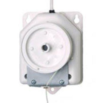 Draadopwinder - plafondmotor, werkt op 220 Volt. Draadlengte +/- 2 meter.<br /> Maximum kapaciteit, leverbaar als:<br /> - 30 omwentelingen per minuut / 120 g / 75 mm/Seconde<br /> - 20 omwentelingen per minuut / 180 g / 50 mm/Seconde<br /> - 10 omwentelingen per minuut / 250 g