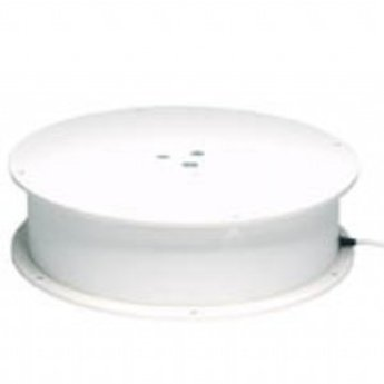 Draaiplateau met maximaal draagvermogen van 300 kg aansluiting op 220V, diameter 400mm hoogte 110mm, draaisnelheid 0,8 omwentelingen per minuut.<br /> <br /> Data<br /> <br />     Max. centrical load:  300 kg<br />     Turn plate: