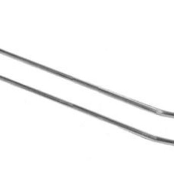 Boardhaak dubbele ZB pen dicht 400 mm lang en 4.8mm dik, breed hart op hart 50mm, 50 stuks. Materiaal verzinkt draad. Prijs per verpakking van 50 stuks.