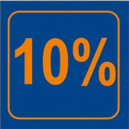 Raambiljet 10% , afmeting 24x23 cm.