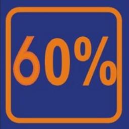 Raambiljet 60% , afmeting 24x23 cm.
