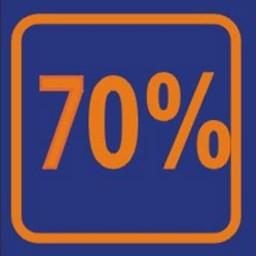 Raambiljet 70% , afmeting 24x23 cm.