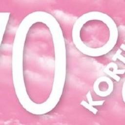 Raambiljet thema 70% KORTING afmeting 50