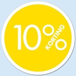 Raambiljet cirkel 10 % kleur geel