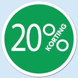 Raambiljet cirkel 20 % kleur groen