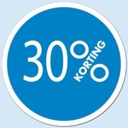 Raambiljet cirkel 30 % kleur blauw