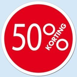 Raambiljet cirkel 50 % kleur rood