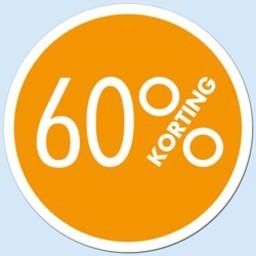 Raambiljet cirkel 60 % kleur oranje