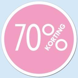Raambiljet cirkel 70 % kleur rose