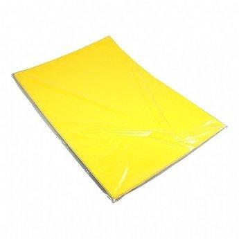 Etalagekarton 48x68 cm citroengeel 380grams 1-zijdig gestreken<br /> Prijs is per vel, echter per 25 stuks verpakt, en per 25 stuks af te nemen.