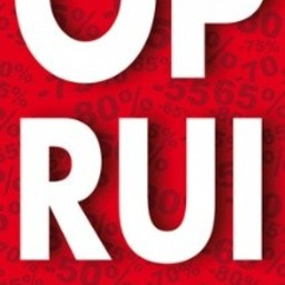 Raambiljet thema OPRUIMING 50x94cm rood
