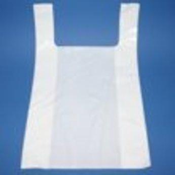 Hemddraagtassen 50x15x85 - inslag 2x15 cm dikte 50micron LDPE doosinhoud 300 stuks. Kleur wit.