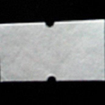 Etiket 2112 wit semie-permanent met gaatje tussen de etiketten, etiketten aan de buitenzijde op de rol, doosinhoud 50 rollen
