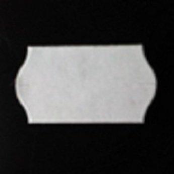 Etiket 22x12 golfrand wit permanent 2-slitjes in onderpapier  63.000 etiketten  (42 rollen