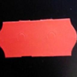 Etiket 2612 fl.rood afneemb.2slit 54.000