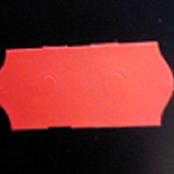 Etiket 26x12 golfrand fluor rood afneembaar  2-sl  54.000  (=36 rollen a 1500 etiketten)