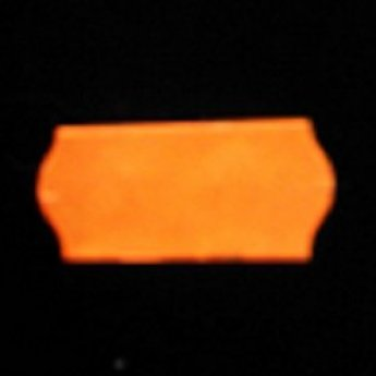 Etiket 26x12 golfrand fluor oranje afneembaar  2-sl  54.000  (=36 rollen a 1500 etiketten)