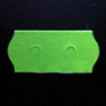 Etiket 26x12 golfrand fluor groen afneembaar  2-sl  54.000  (=36 rollen a 1500 etiketten)