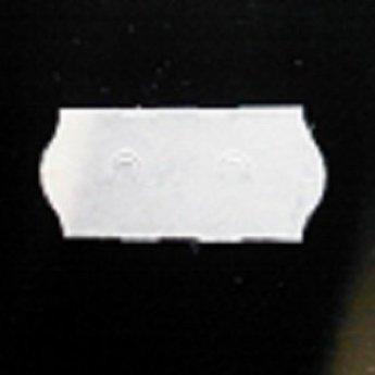 Etiket 26x12 golfrand wit semie-permanent  54.000 etiketten. (36 rollen
