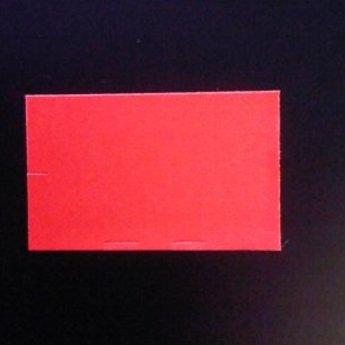 Etiket 26x16 rechthoek fluor rood permanent-2slit 36.000  (36 rollen