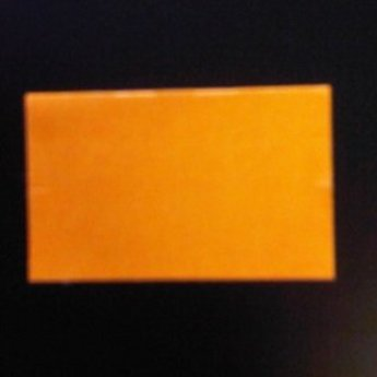 Etiket 26x16 rechthoek fluor oranje permanent-2slit 36.000  (36 rollen