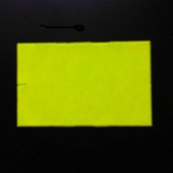 Etiket 26x16 rechthoek fluor geel afneembaar -2slit 36.000  (36 rollen