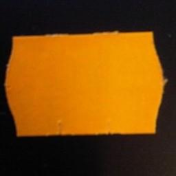 Etiket 2616 fl.oranje perm 2sl golf 39.6