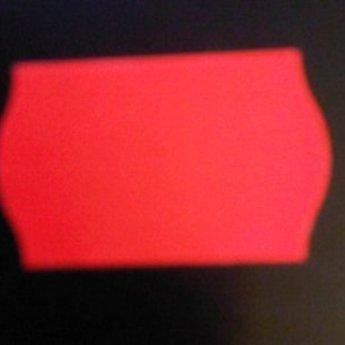 Etiket 2616 fluor rood afneembaar golfrand, doosinhoud 36 rollen
