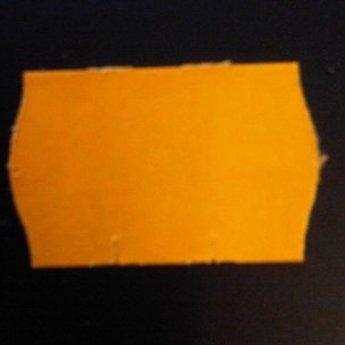 Etiket 2516 fluor oranje afneembaar golfrand, doosinhoud 36 rollen
