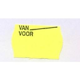 Etiket 2516 fl.geel afnmbr Van Voor