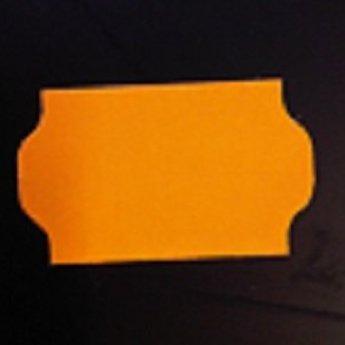 Etiket 3219 golfrand fluor oranje permanent 2slit, doosinhoud 30 rollen