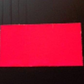 Etiket 3719 rechthoek fluor rood permanent 2slit, doosinhoud 25 rollen