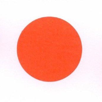 Etiket 25 mm rond fluor rood kleefkracht permanent, aantal etiketten 1000 stuks op rol.