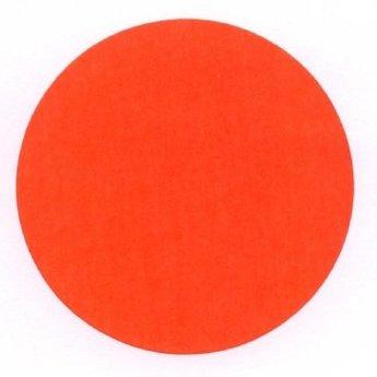 Etiket 50 mm rond fluor rood kleefkracht permanent, aantal etiketten 1000 stuks op rol.