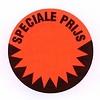 Etiket 35 mm fluor rood  SPECIALE PRIJS