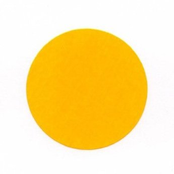 Etiket 35 mm rond fluor oranje kleefkracht permanent, aantal etiketten 1000 stuks op rol.