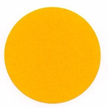 Etiket 50 mm rond fluor oranje kleefkracht permanent, aantal etiketten 1000 stuks op rol.