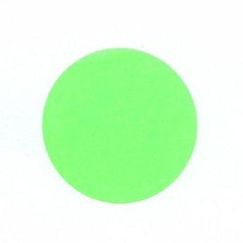 Etiket 25 mm rond fluor groen kleefkracht permanent, aantal etiketten 1000 stuks op rol.